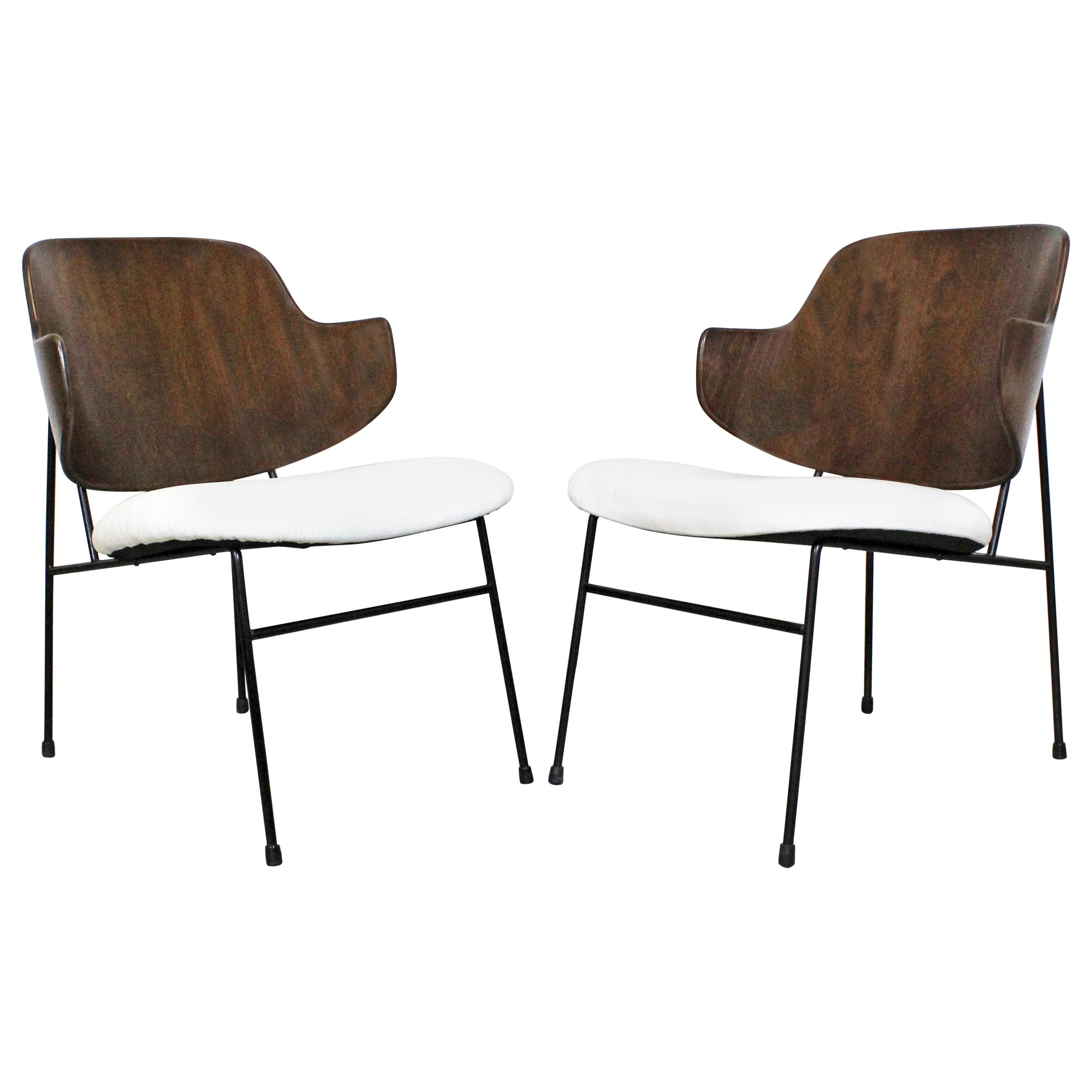 Pair of Midcentury Danish Modern IB Kofod Larsen Selig Penguin Chairs