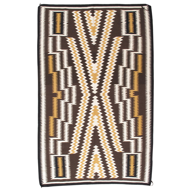Vintage Navajo Rug, Handmade Wool Oriental Rug, Caramel, Beige, Brown, Soft Gold