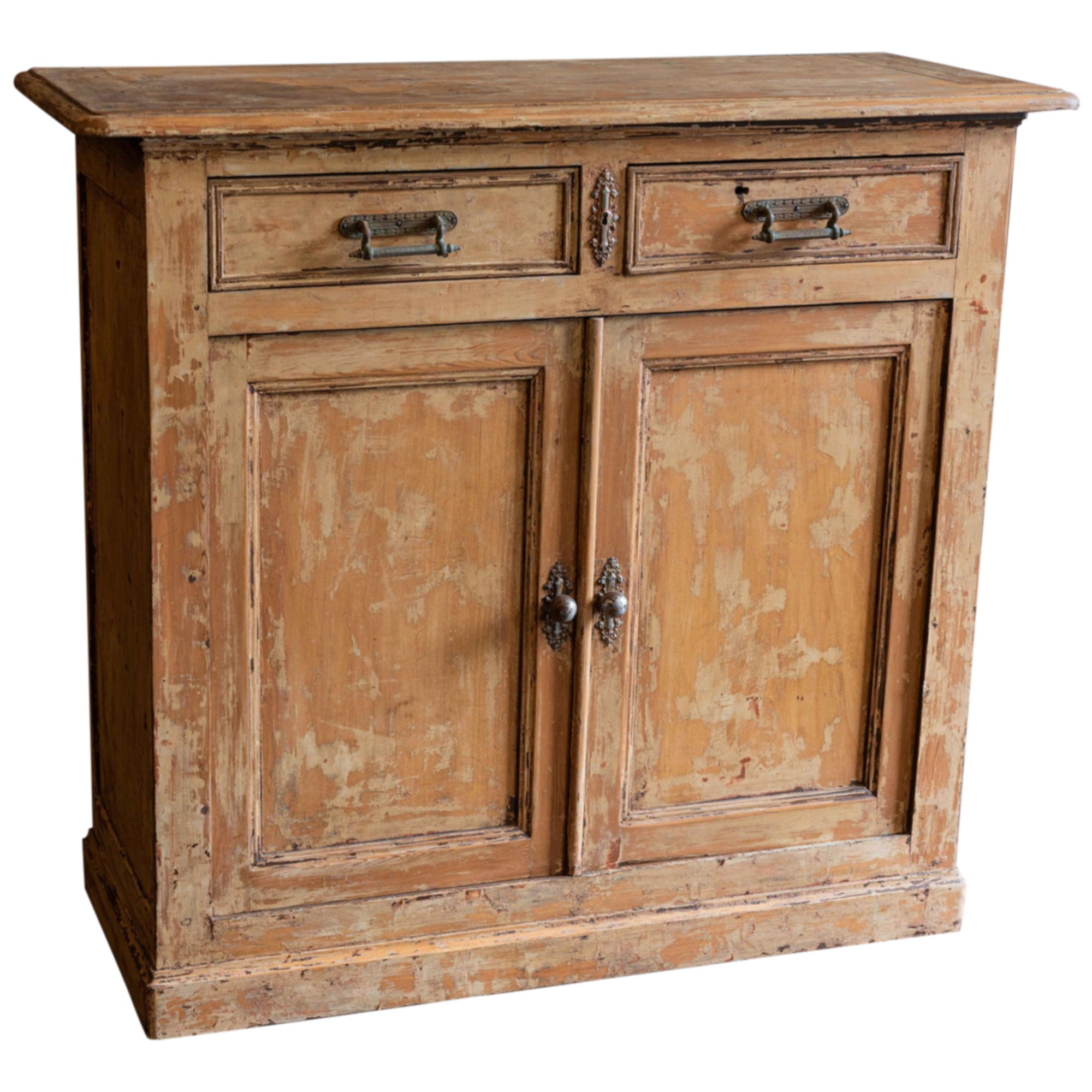 19th Century French Scraped Paint Buffet