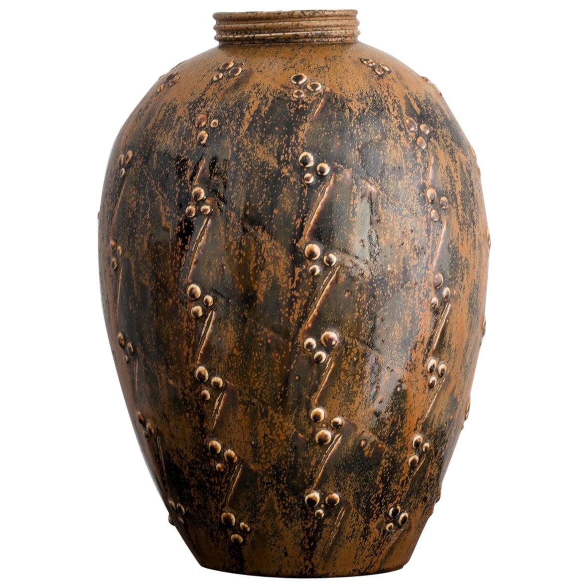 Large Stoneware Vase by Saxbo