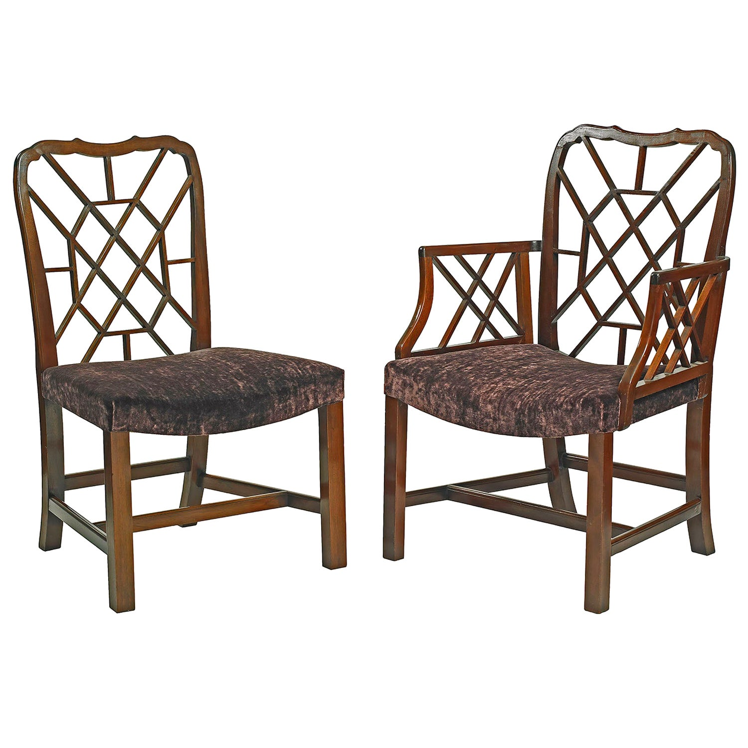 Set of Fourteen Cockpen Dining Chairs