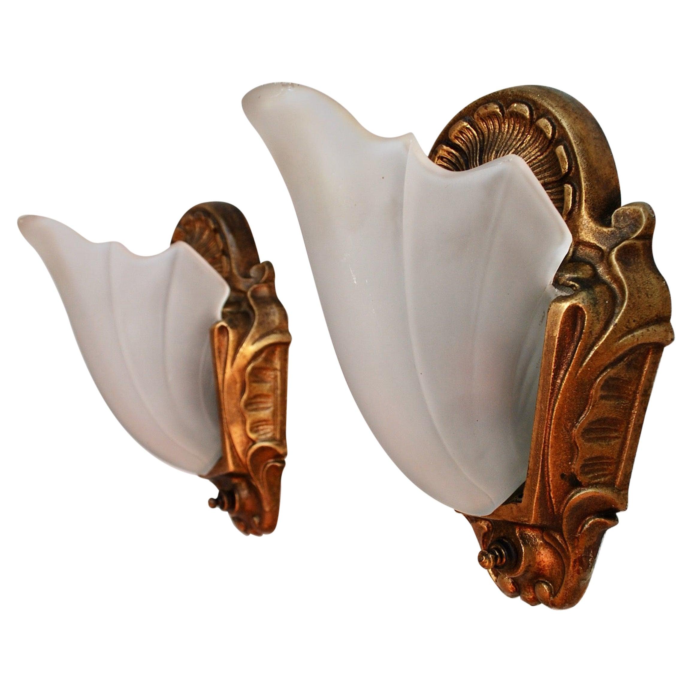 Elegant Pair of Art Deco Sconces