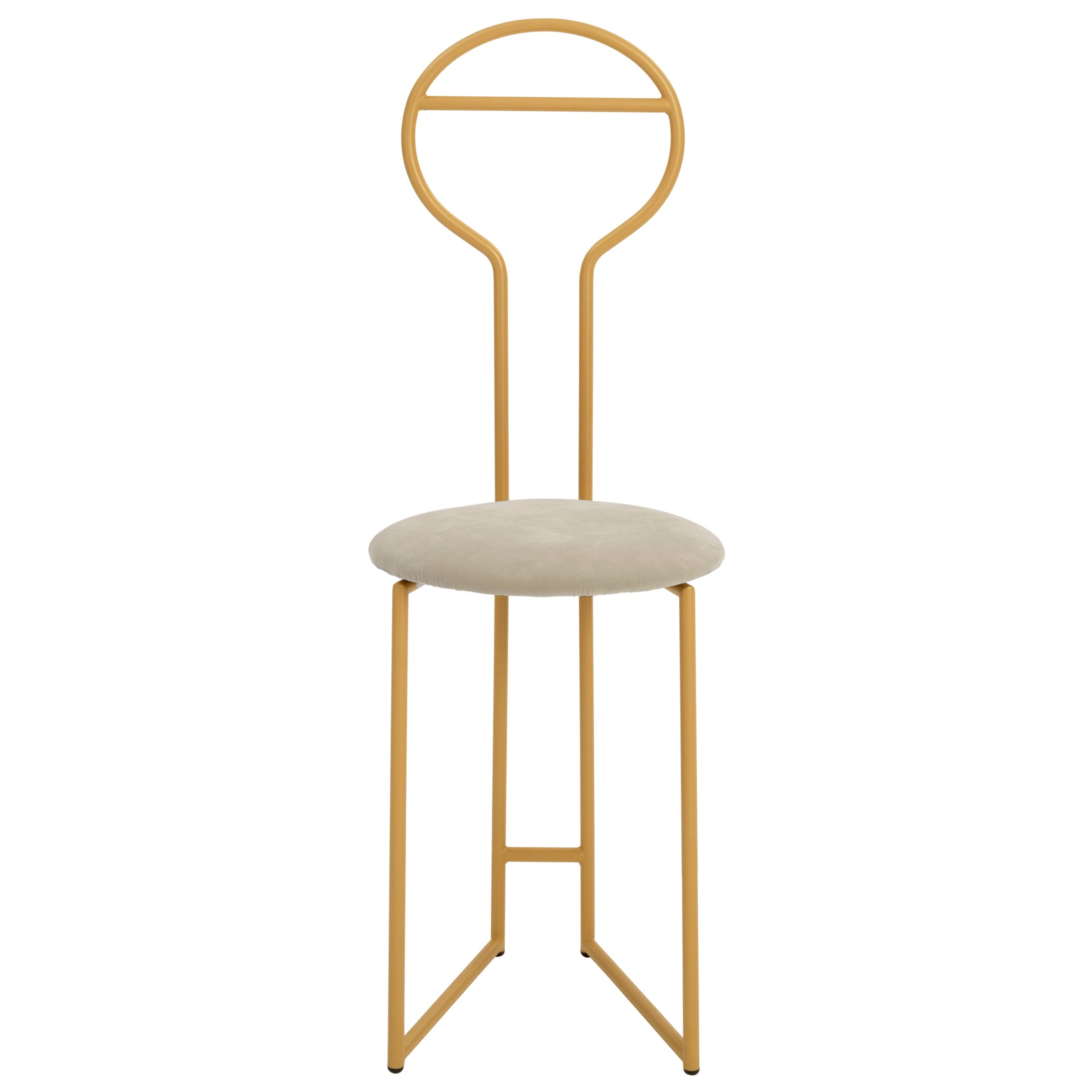 Joly Chairdrobe, High Back, Gold Structure, Malva Perl Gray Fine Italian Velvet