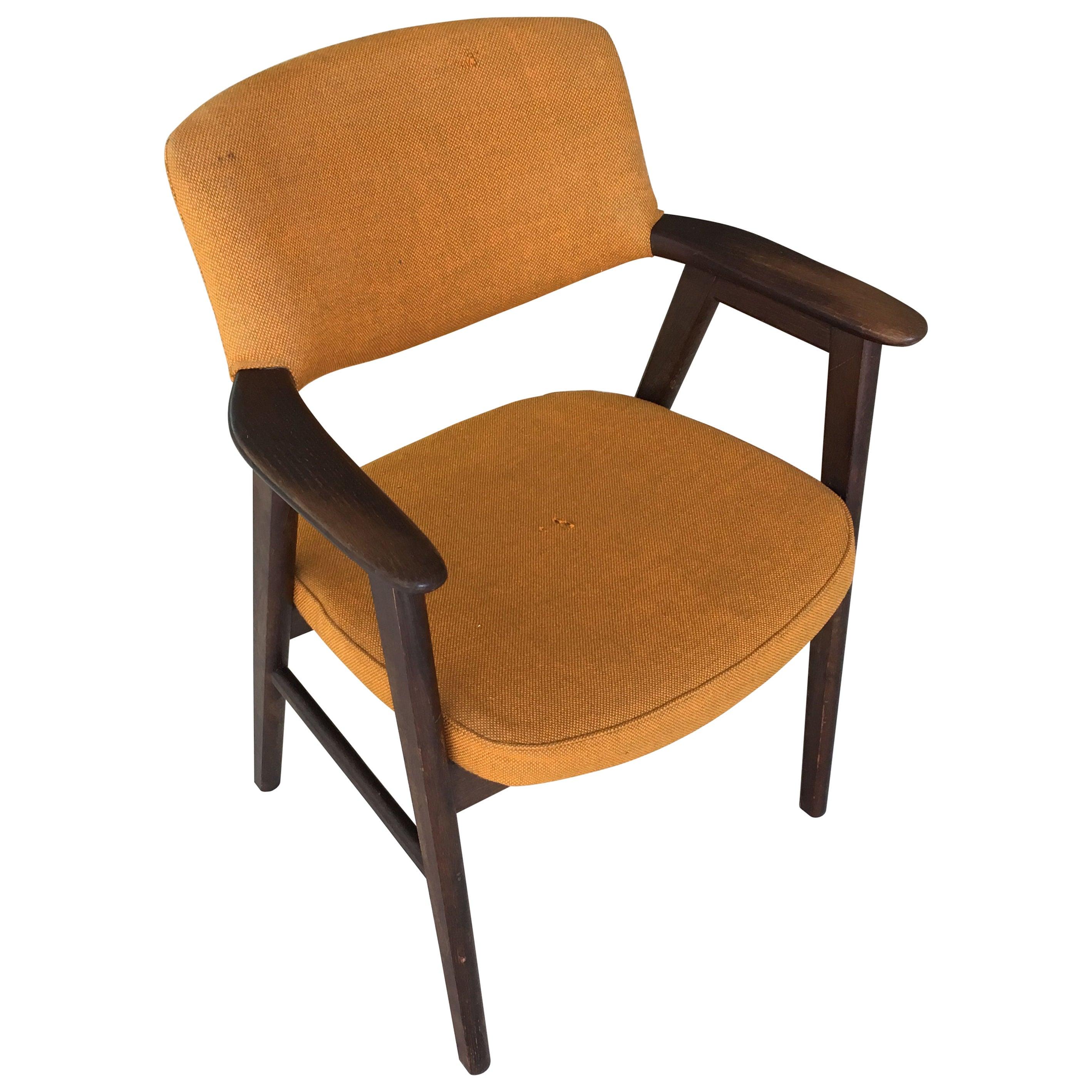 1960s Erik Kirkegaard Danish Desk Chair in Tanned Oak