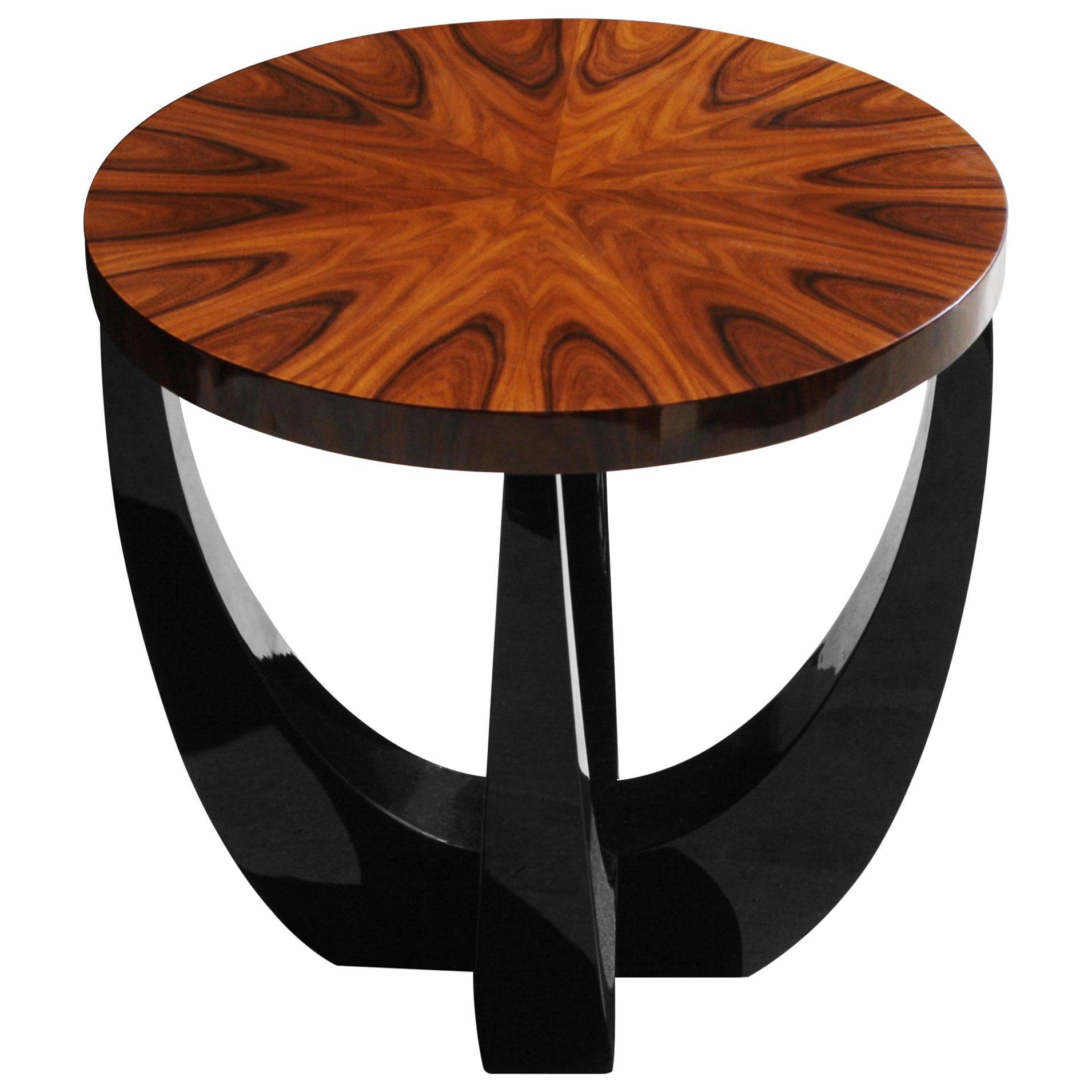 21st Century Canopy Side Table Ironwood Veneer