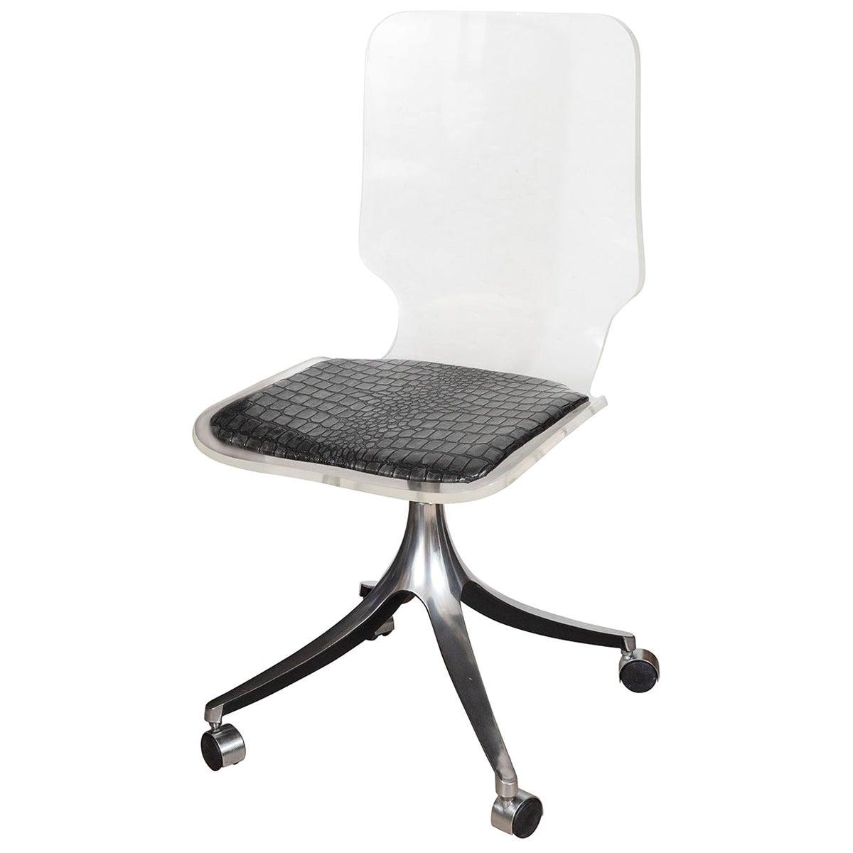 Acrylic Rolling Chair