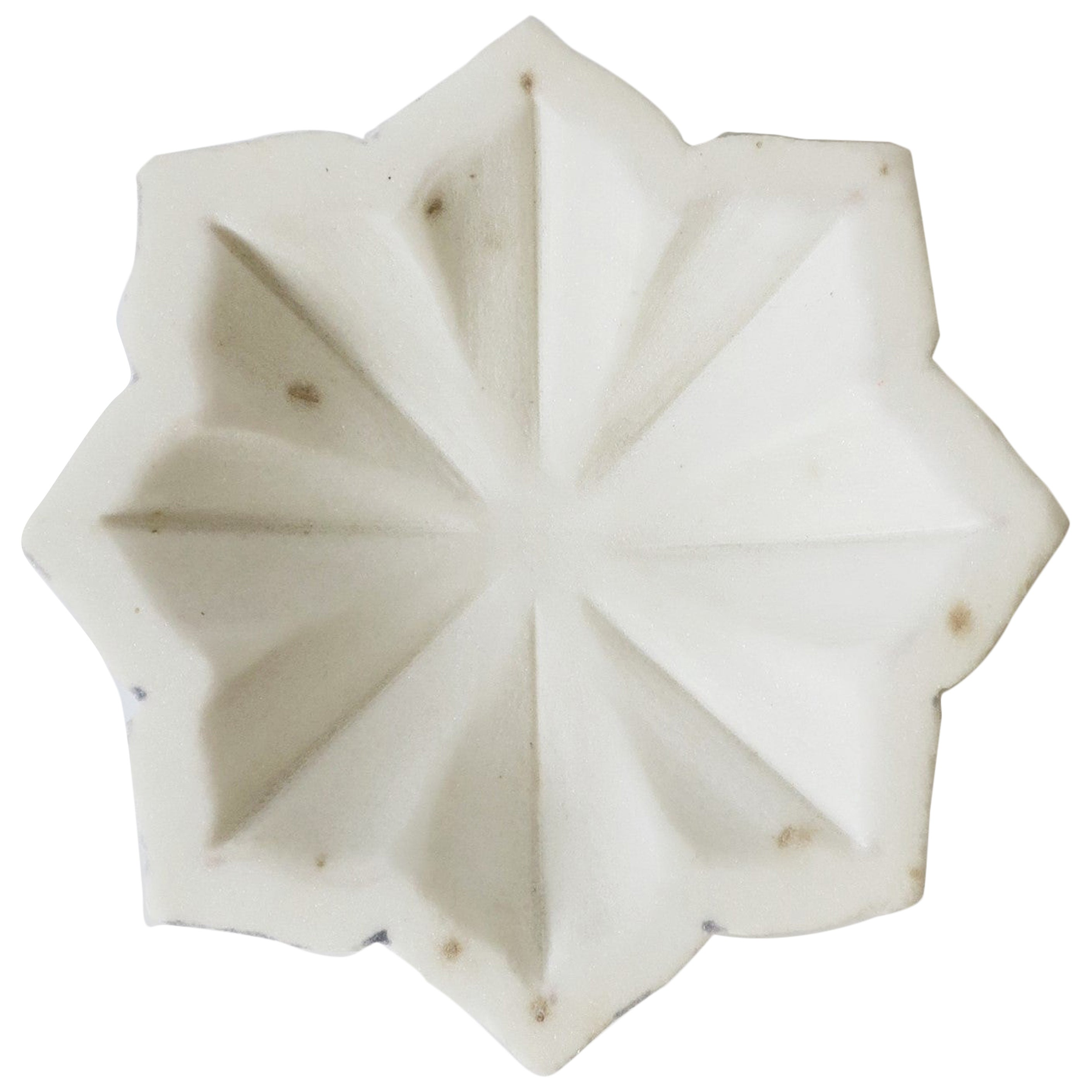 White Marble Dish or Vide-Poche