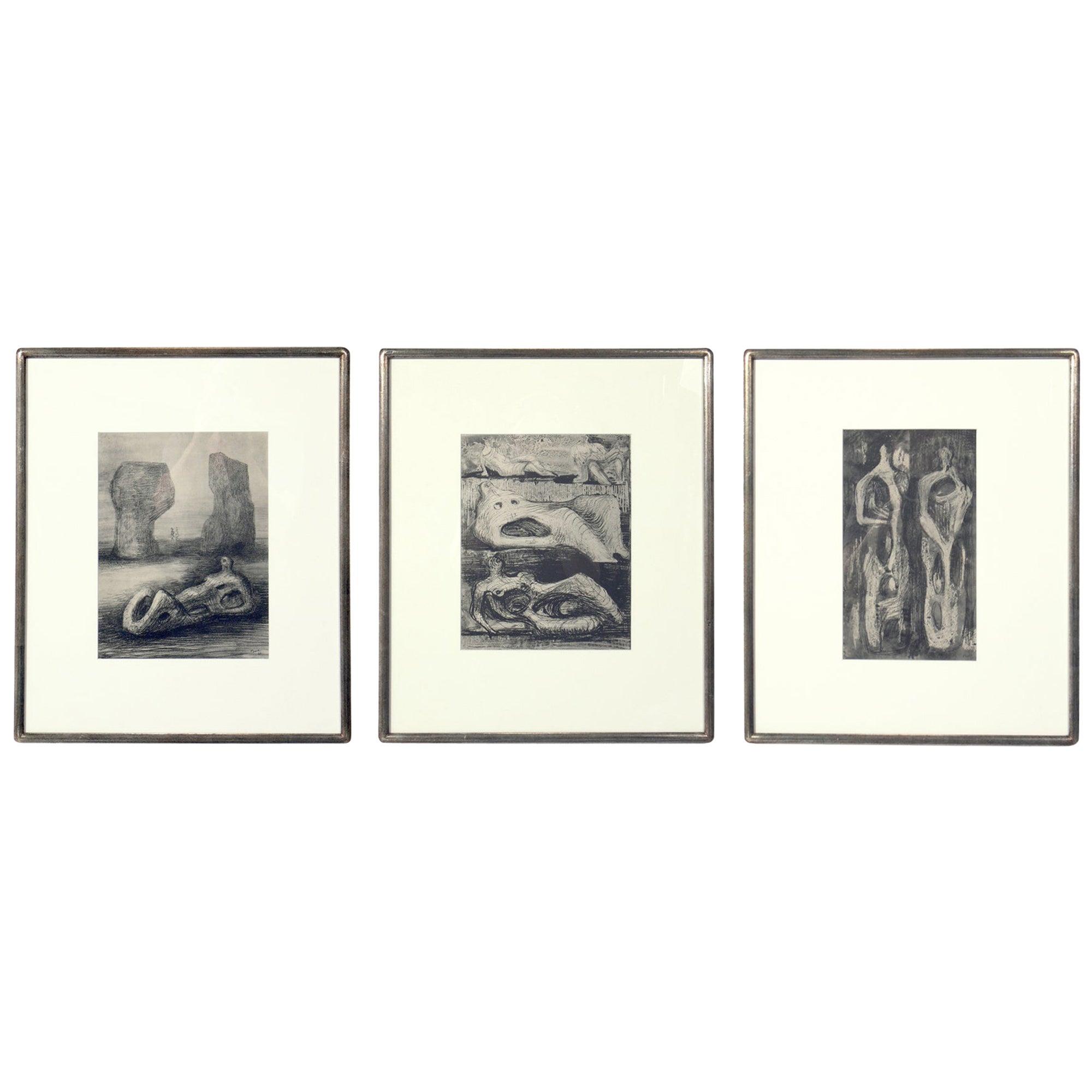 Henry Moore Modernist Prints