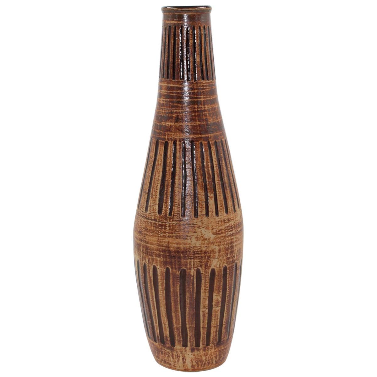 Midcentury Large Ceramic Vase by Egon Larsson for Höganäs Keramik