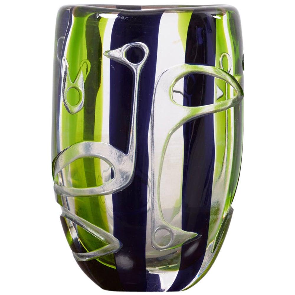 Vase by Vicke Lindstrand for Kosta Glasbruk, 1960s Sweden