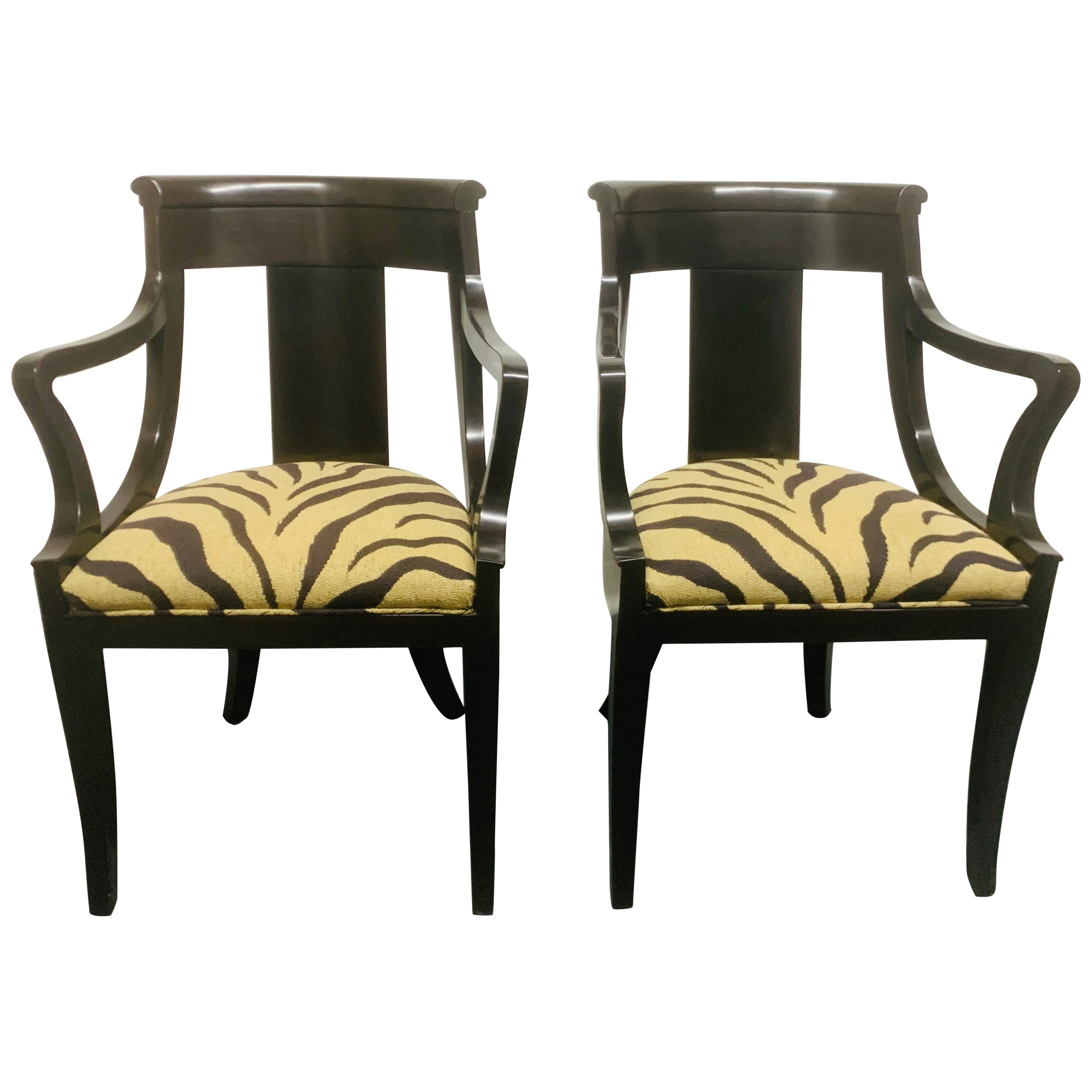 Pair of Baker Neoclassical Style Side Chairs