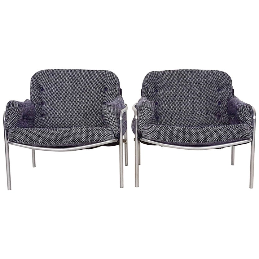 "Set of 2 Martin Visser for 't Spectrum ""Osaka"" Lounge Chairs, The Netherlands"