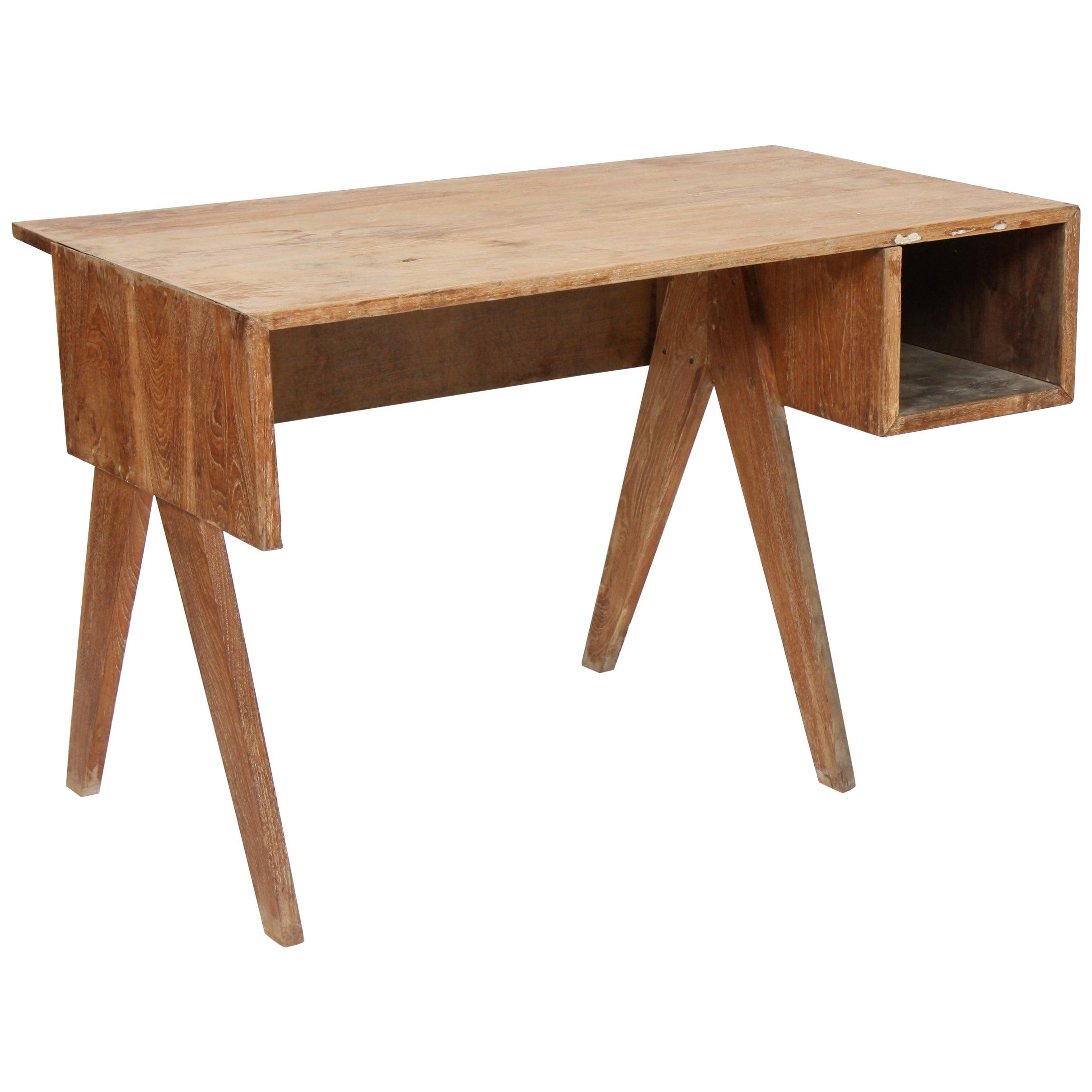 Office Solid Desk by Pierre Jeanneret