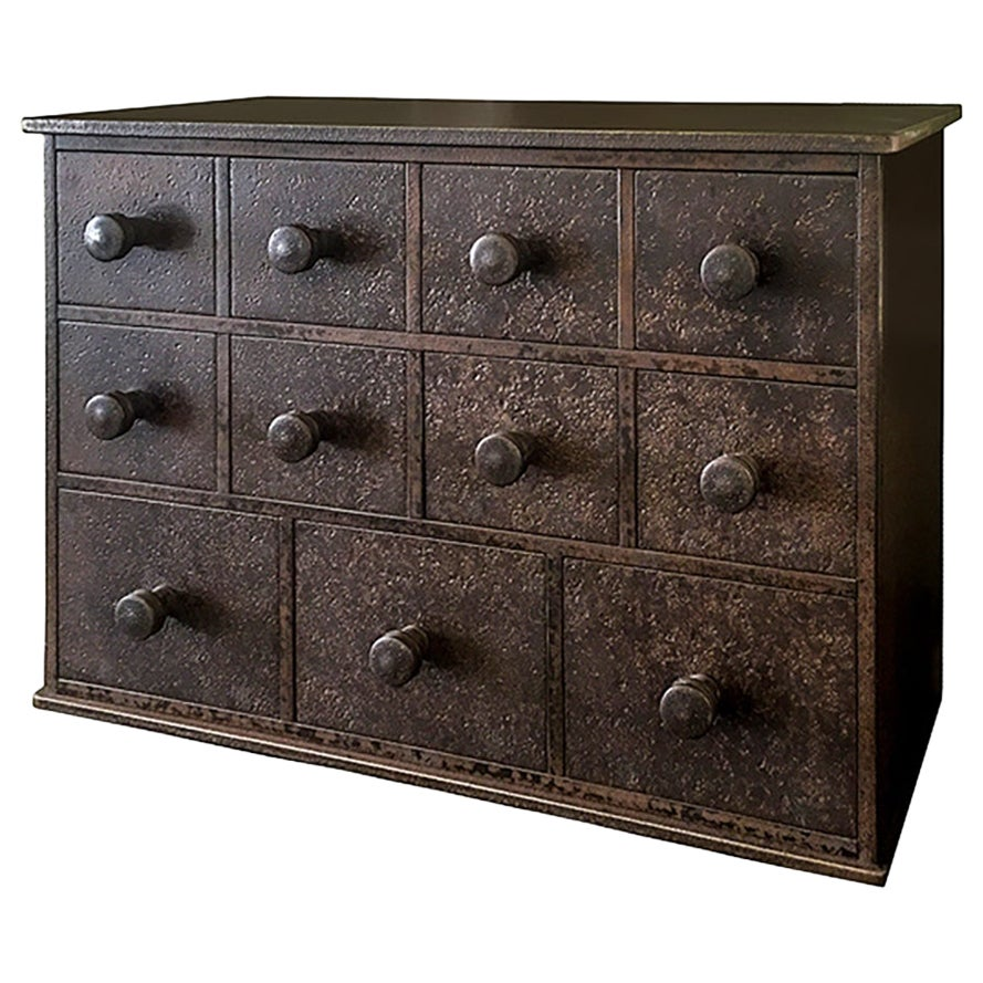 Jim Rose Legacy Collection - 11 Drawer Cabinet, Shaker Inspired Steel Apothecary