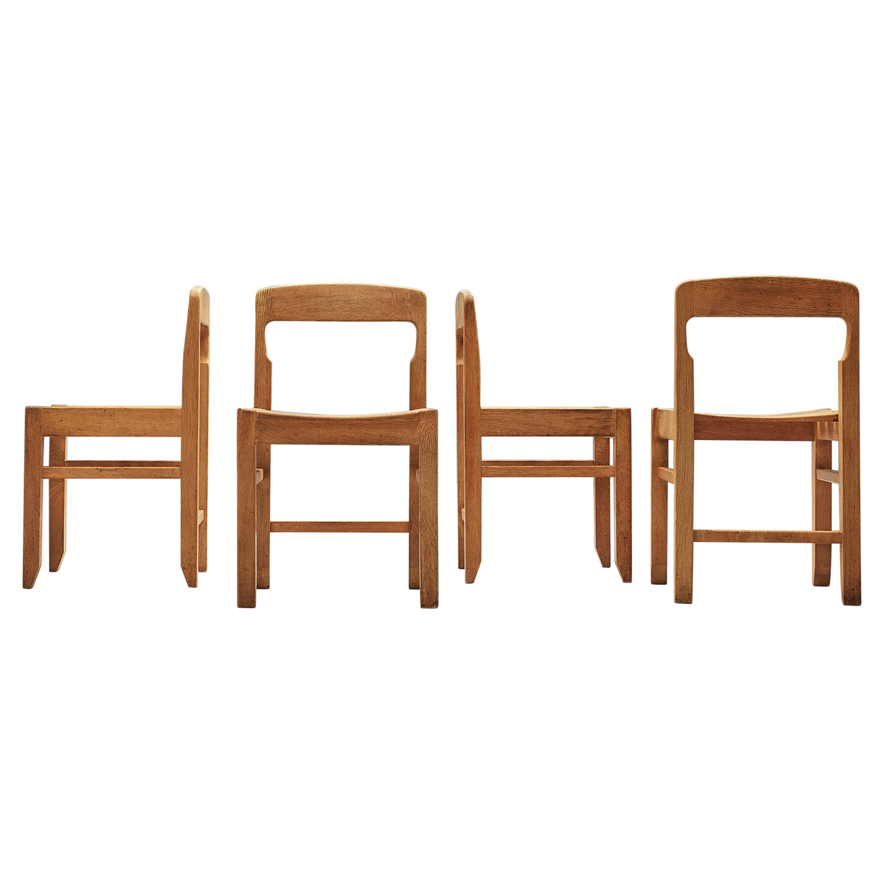Set of Dining Chairs by Guillerme et Chambron