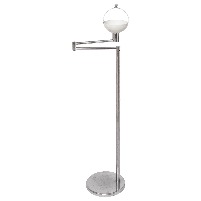 Walter Von Nessen Modern Swing Arm Floor Lamp