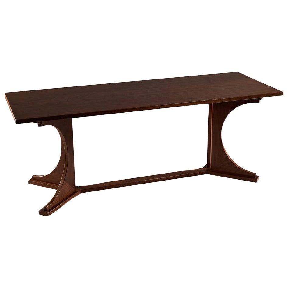 Franco Albini Rare Wood Table Italian Design, circa 1950