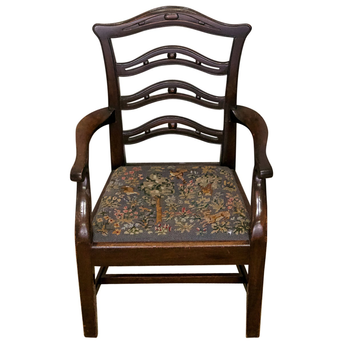 George III Mahogany Ladder Back Childs Armchair