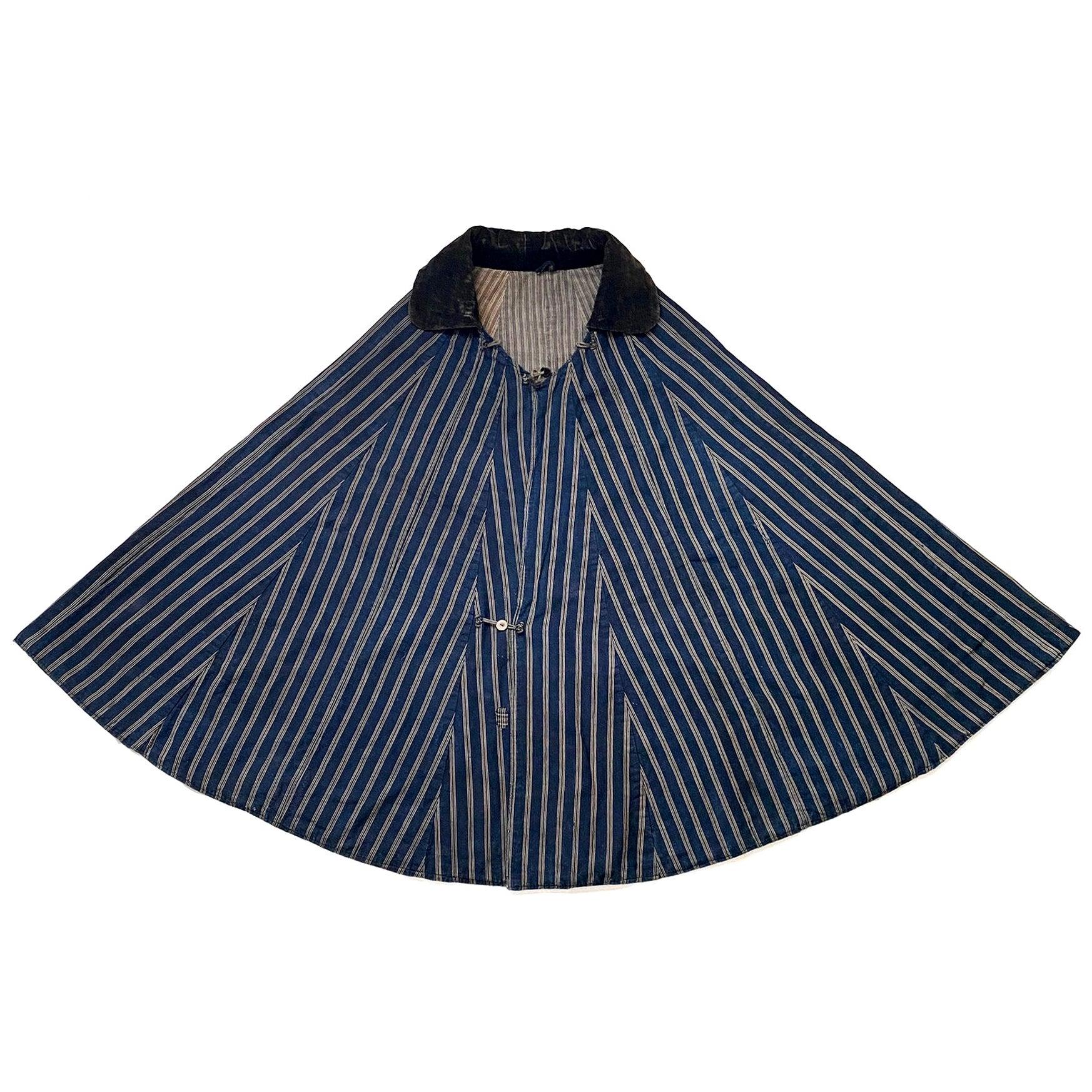 Meiji Period Cotton Kappa 'Rain Cape', Japan