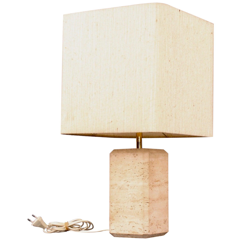 Fratelli Mannelli Travertino Table Lamp