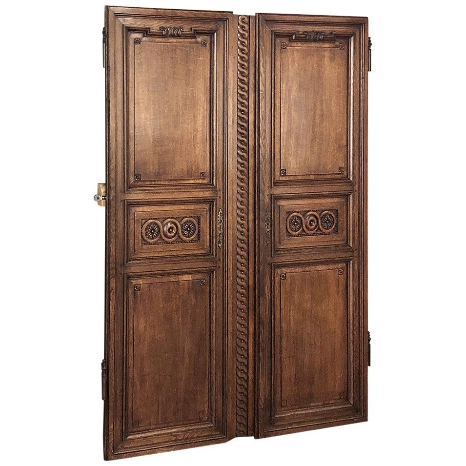Pair of 19th Century French Doors, Plaquards