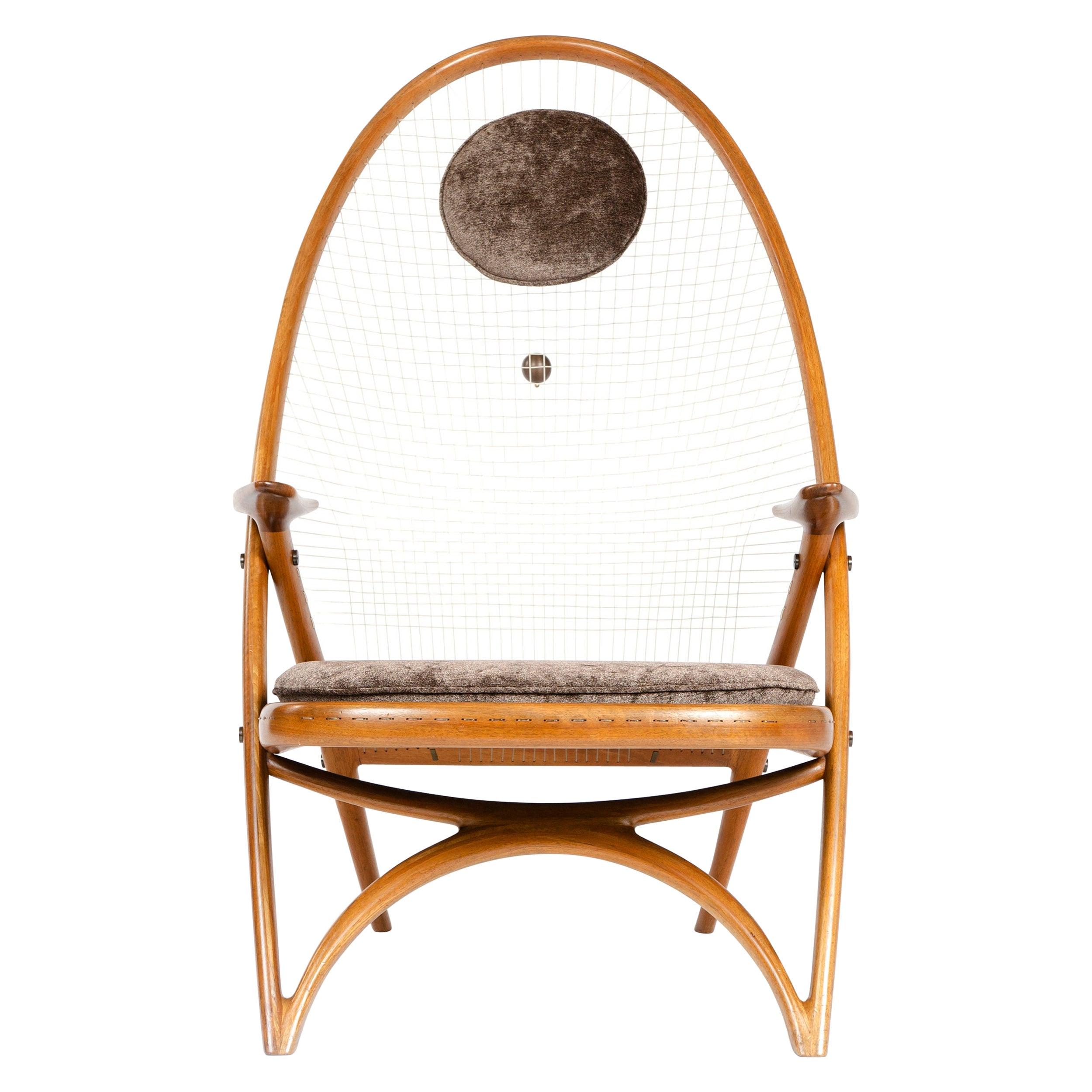 1950s Racquet Chair by Vestergaard Jensen for Peder Pedersen