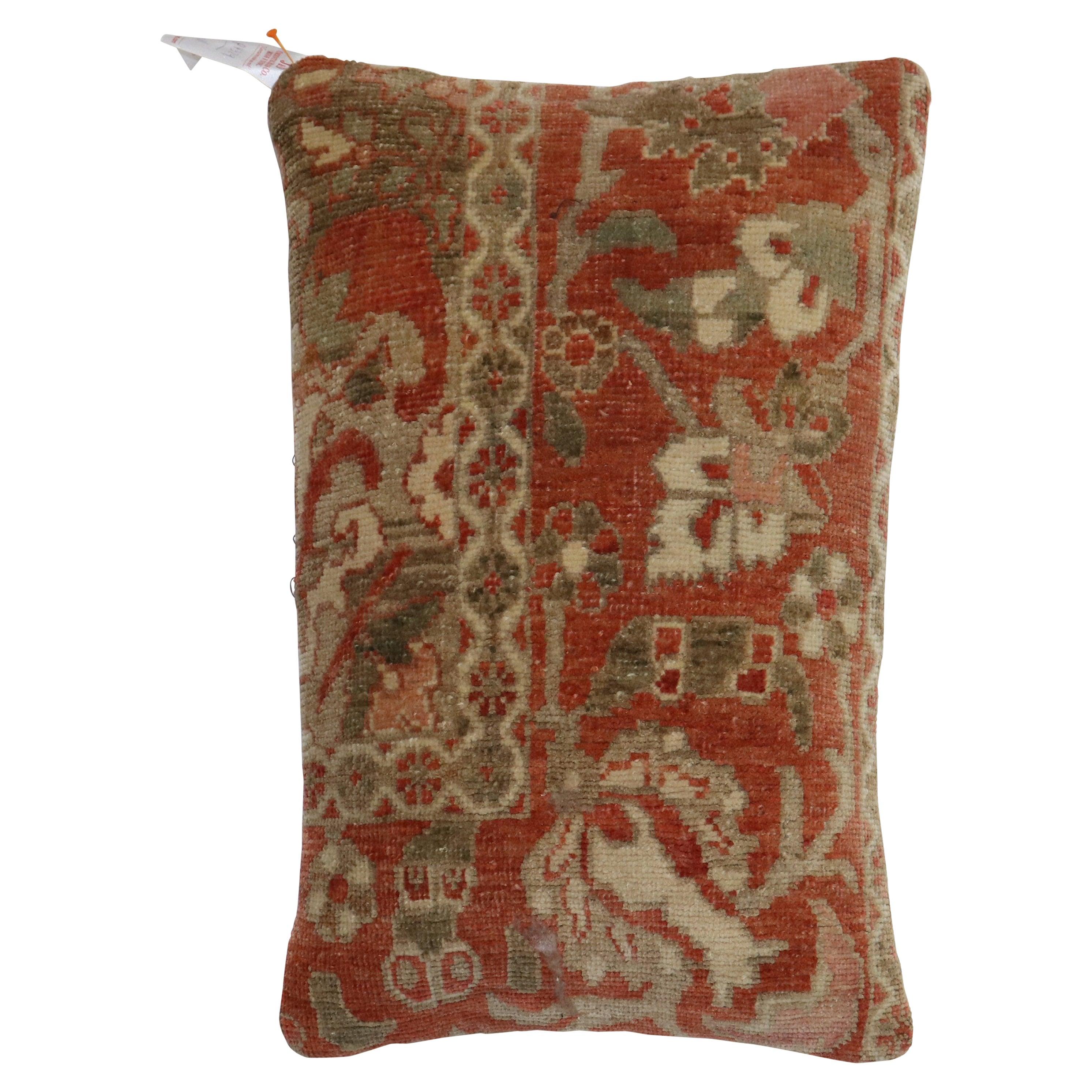 Terracotta Brown Persian Rug Pillow
