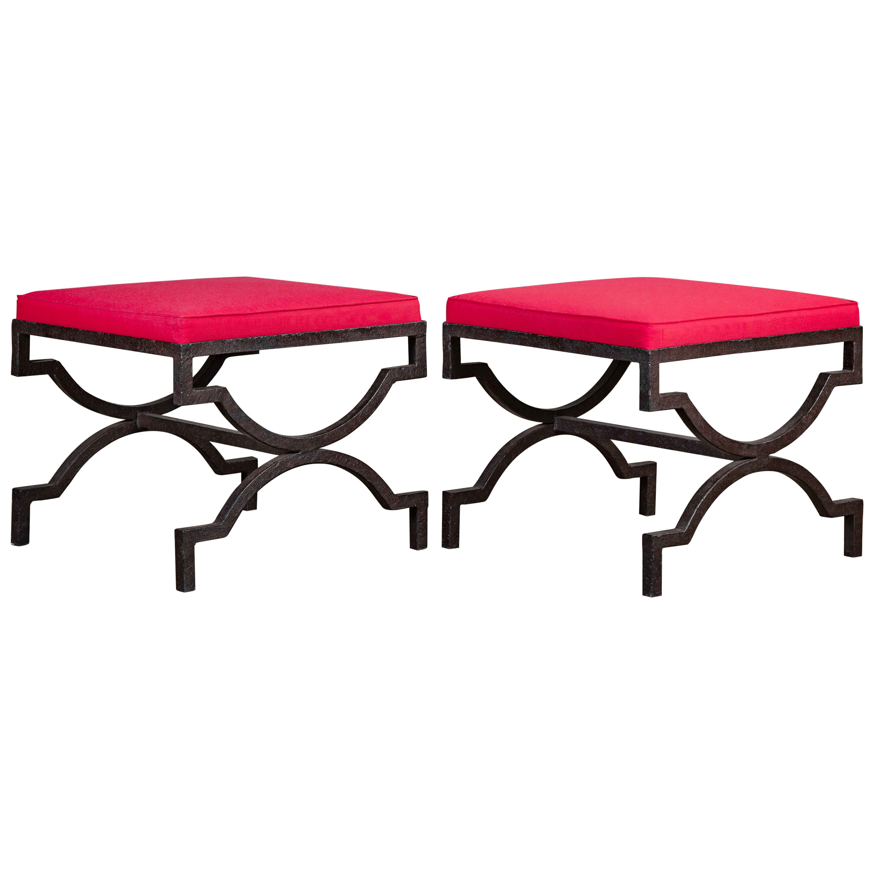 Pair of Iron Benches