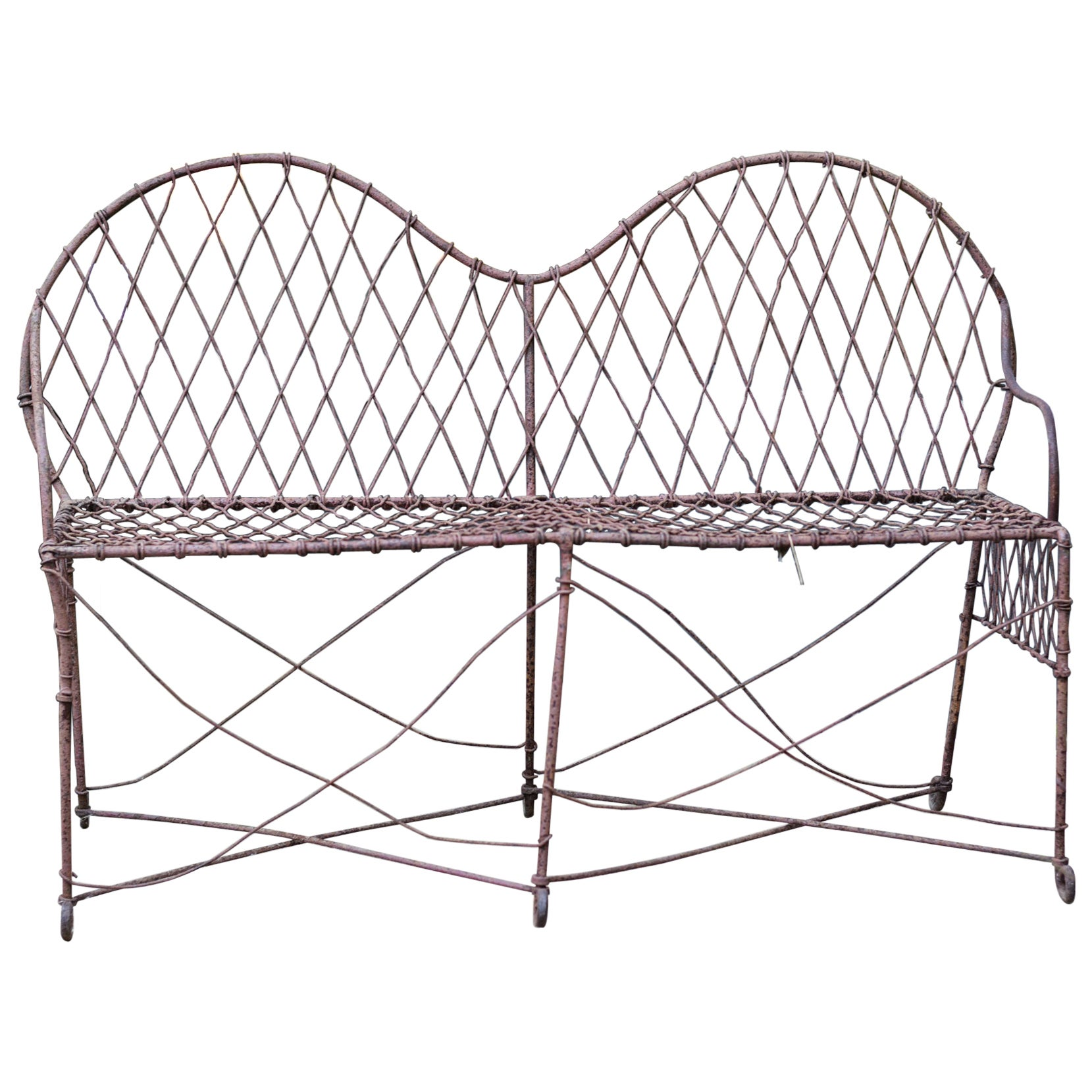 19th Century Wire Loveseat