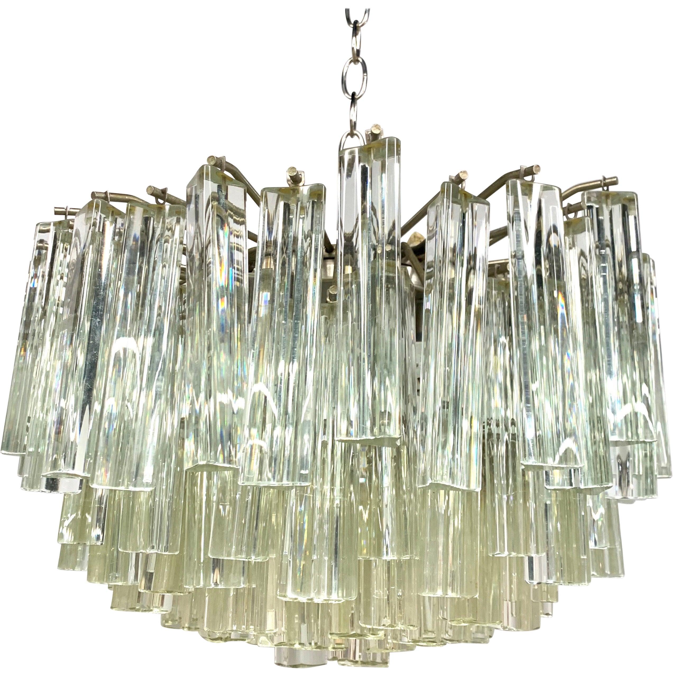 Camer Glass Midcentury Murano Glass Chandelier