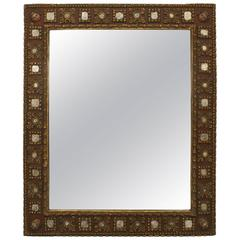 Spanish Renaissance Style Parcel-Gilt Carved Wall Mirror, 19th Century