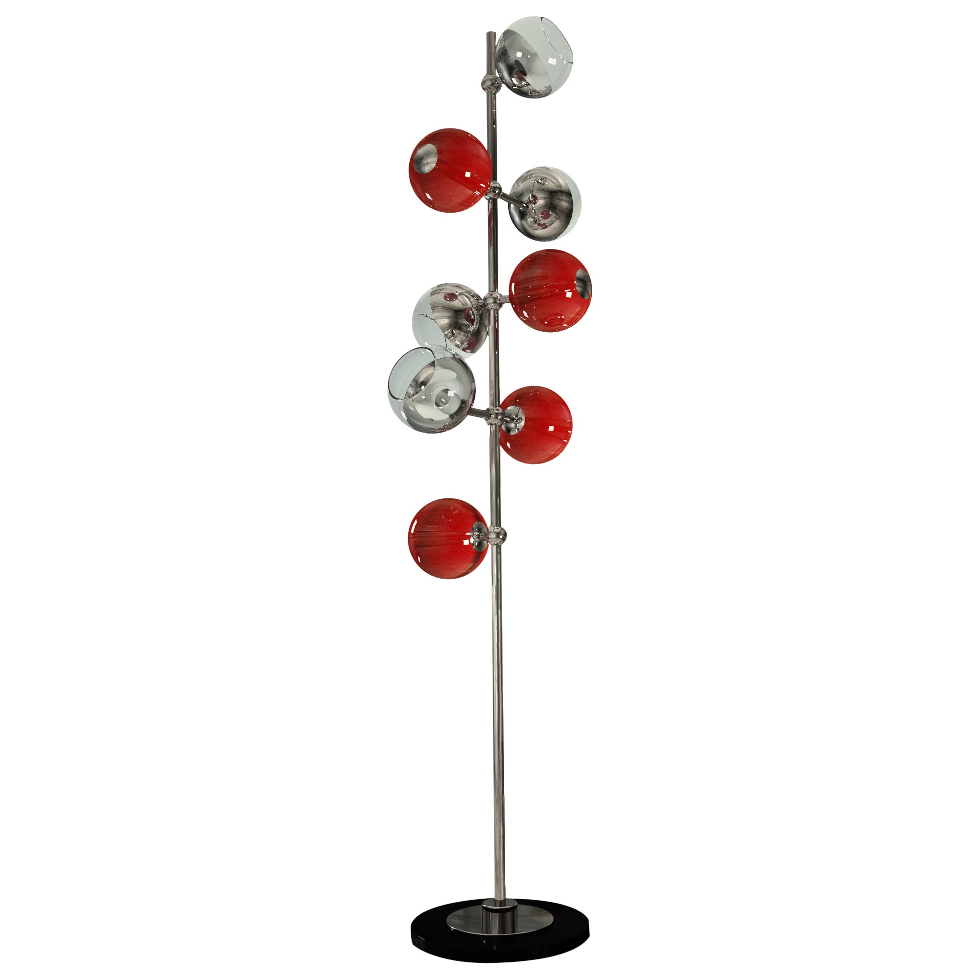 21st Century Cherries Floor Lamp Brass Glass