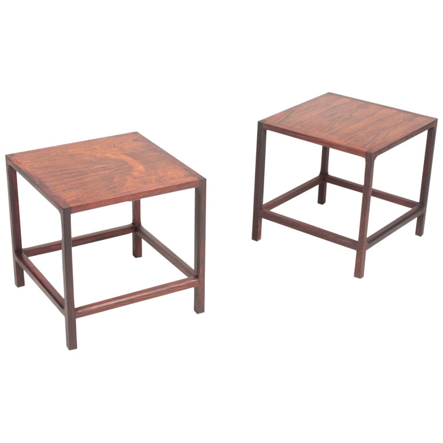 Pair of Midcentury Side Tables in Rosewood Designed by Aksel Kjærsgaard, 1960s
