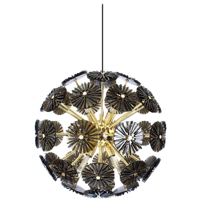 21st Century Dandelion Suspension Lamp Brass