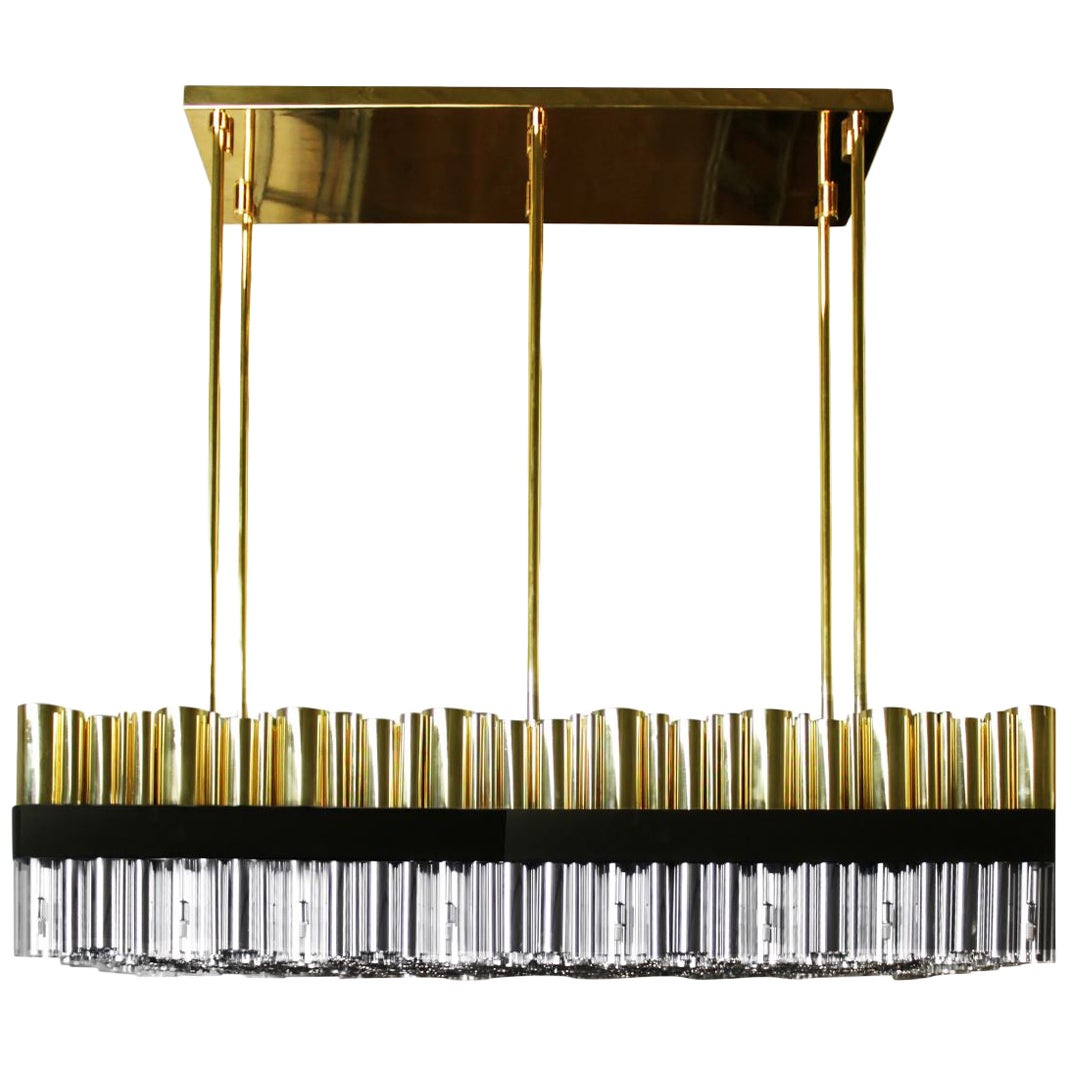 21st Century Granville Suspension Lamp Brass