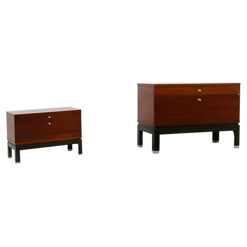 Pair of Bedside by MiM in Wood, 1960s