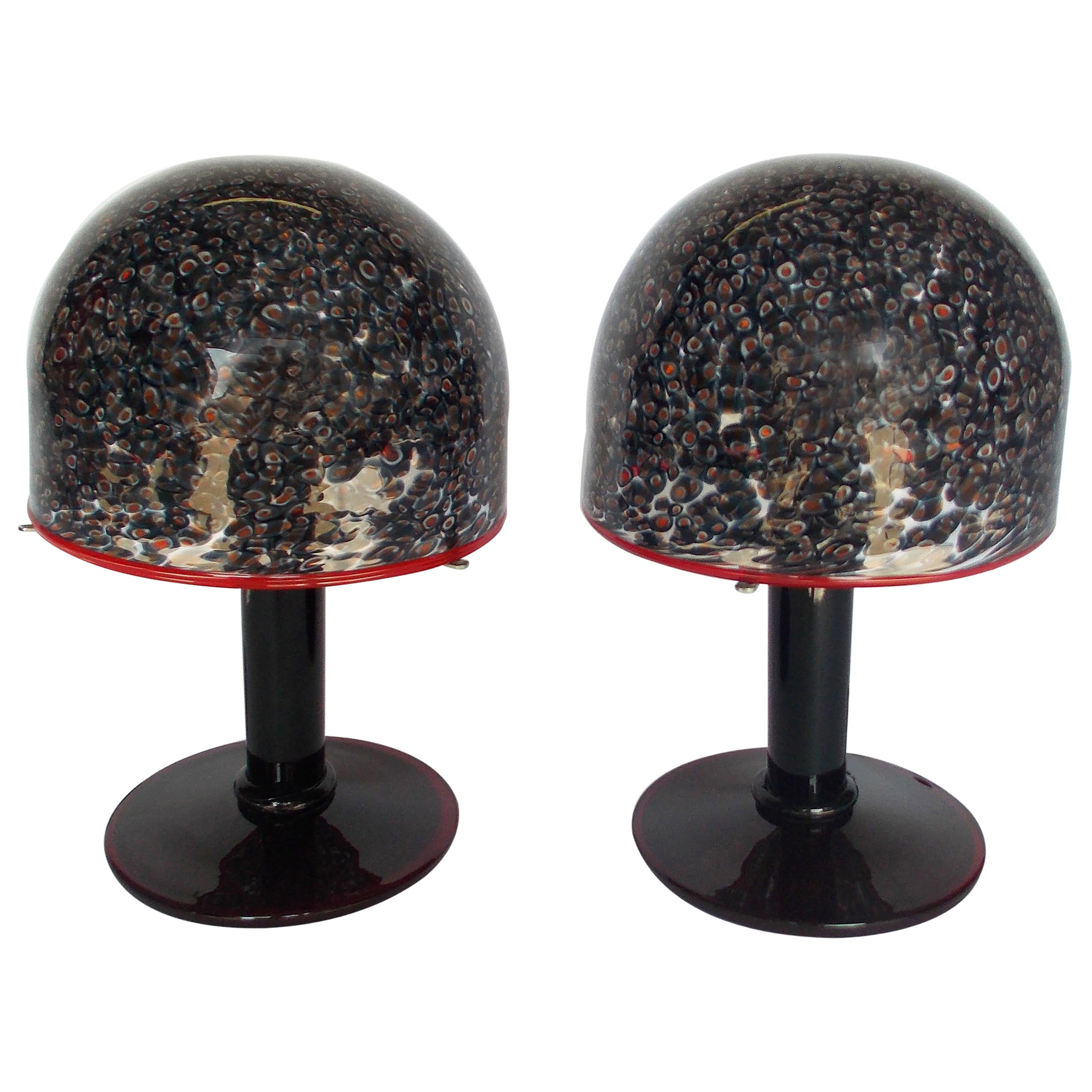 Gae Aulenti Murrine Glass Table Lamps