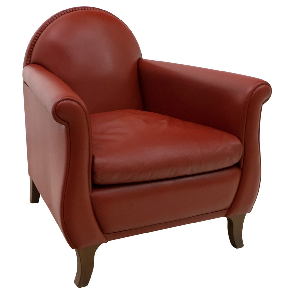 "Renzo Frau Italian Leather Armchair ""Lyra"" by Poltrona Frau"