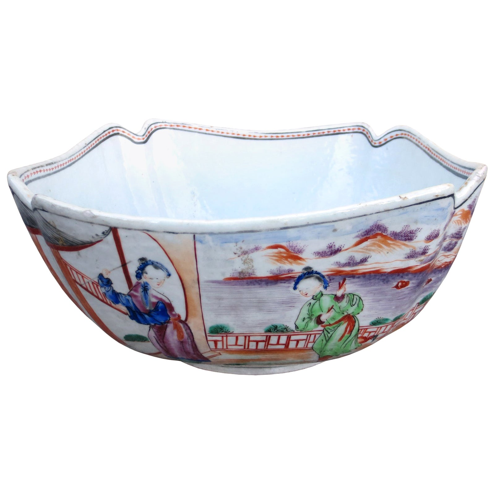 18th Century Chinese Porcelain Square Bowl