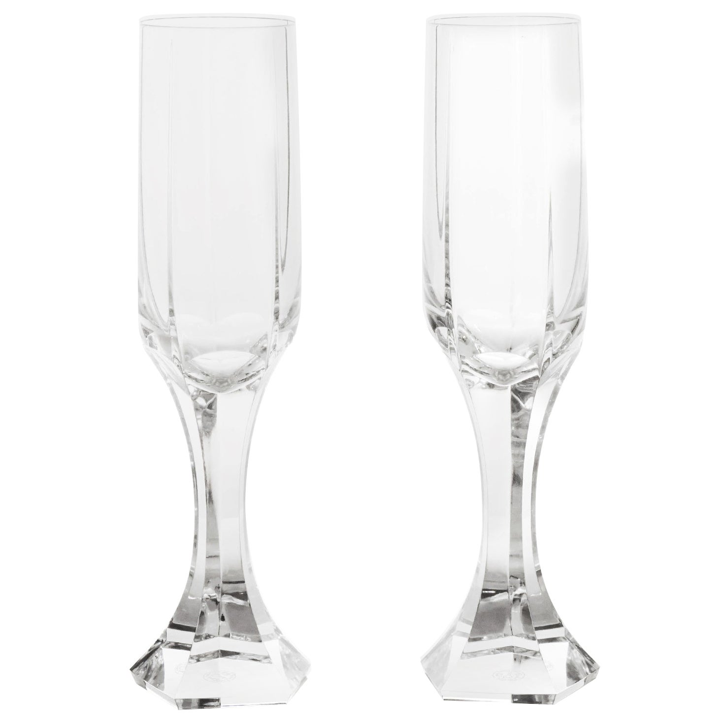 """12 Baccarat """"Mercure"""" Fluted Champagne Glasses"""