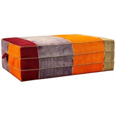 Nickey Kehoe Collection Rectangular Ottoman in Vintage Turkish Colorful Fabric