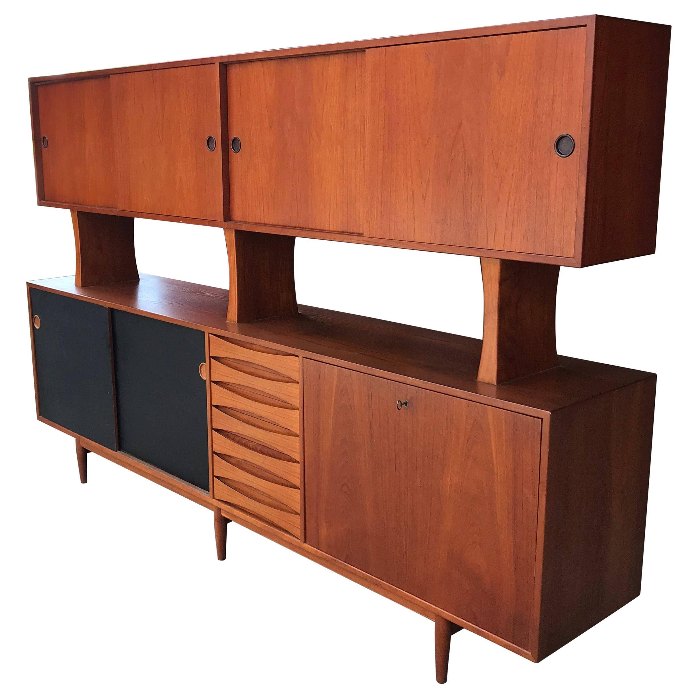 Classic Arne Vodder Sideboard with Top, Model 29A, Reversible Doors, Denmark