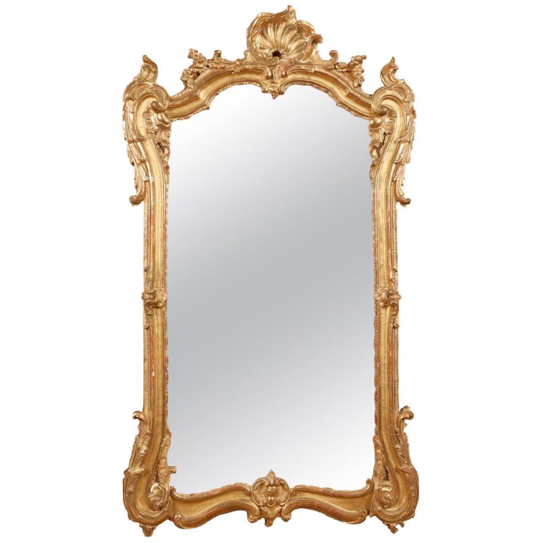 18th Century Georgian Giltwood Pier Mirror