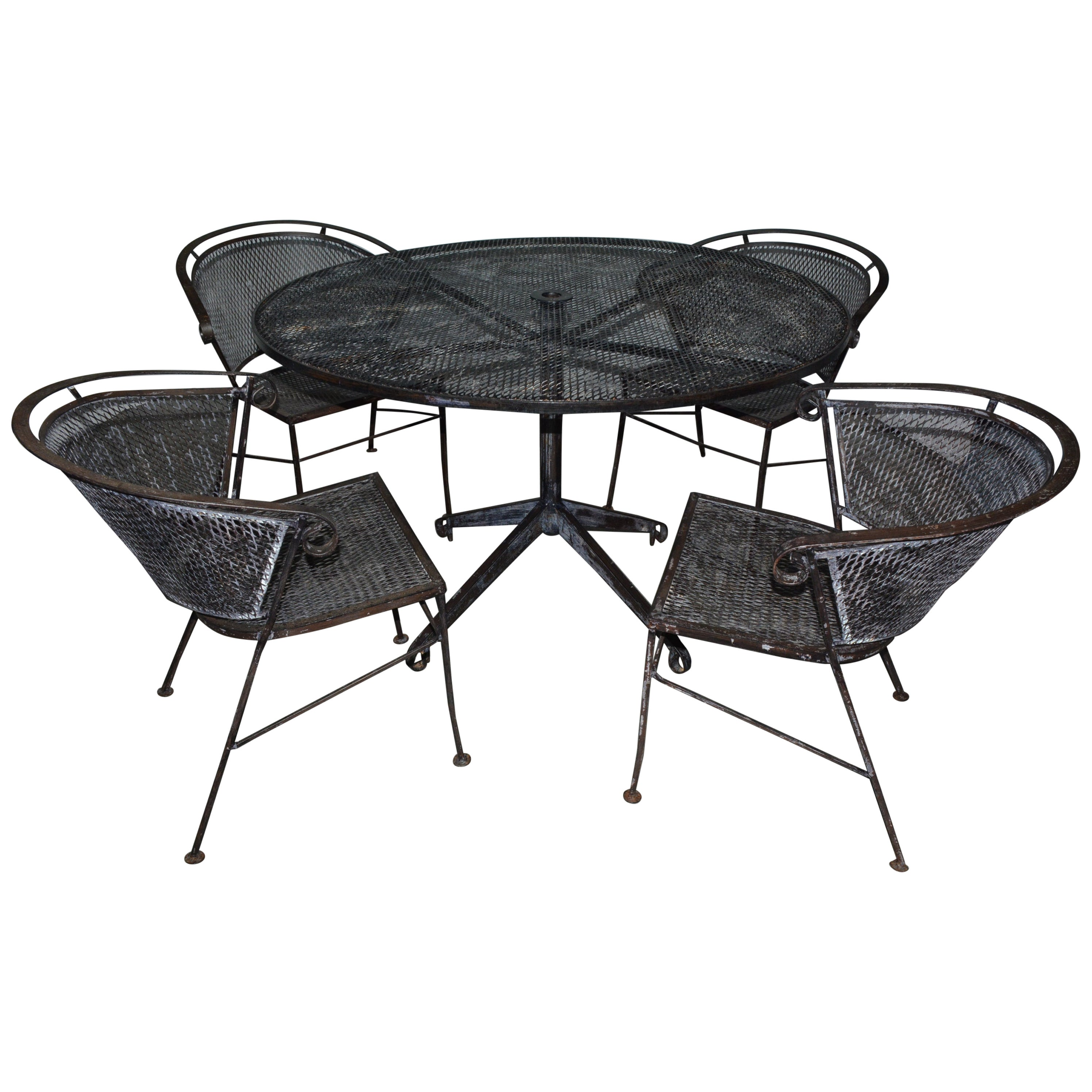Set of 5 Round Patio Garden Table Dining Set