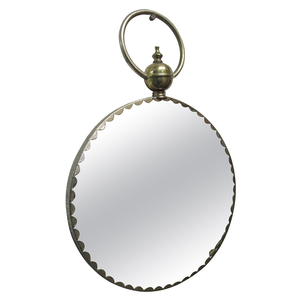 Italian Decorative Brass Mirror