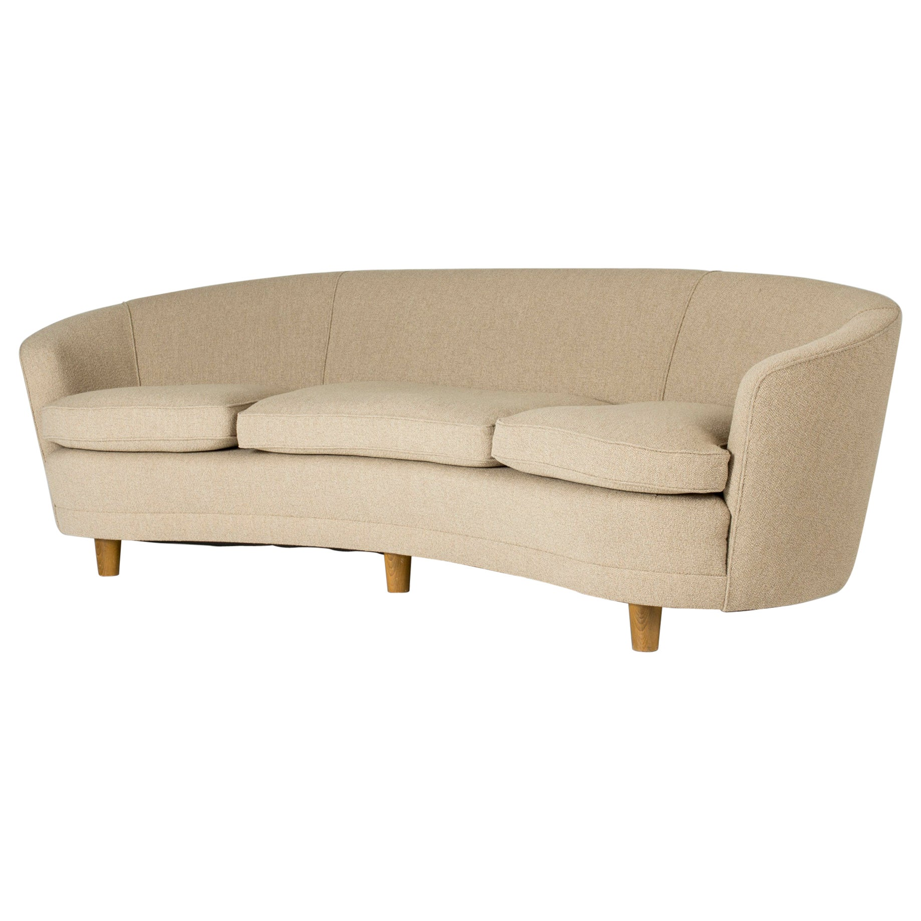 1940s Curved Sofa