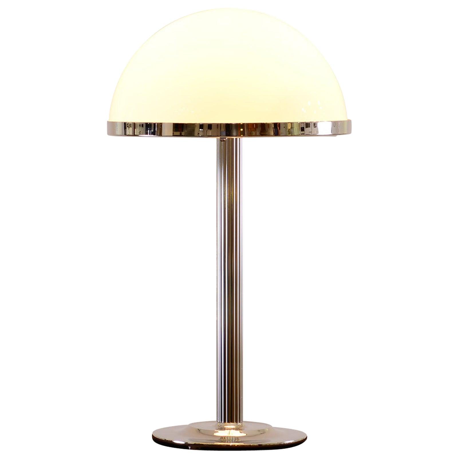 Adolf Loos Brass Opaline Glass, Table Lamp Jugendstil, Re-Edition