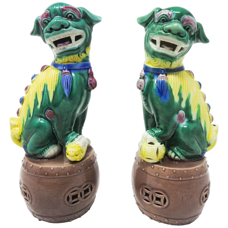 Ceramic Chinese Guardian Foo Dogs
