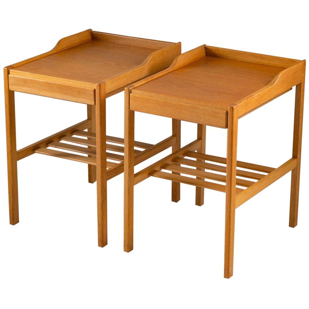 Scandinavian Midcentury Bedside Tables by Bertil Fridhagen for Bodafors, 1960s