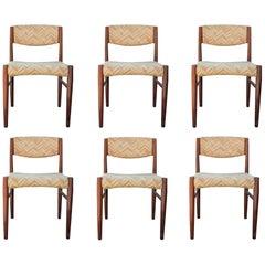Danish Midcentury Brazilian Rosewood Dining Chairs Set of 6